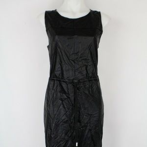Guess Black Pleather Maxi Dress Size Large
